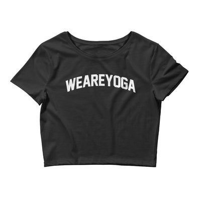 WE ARE YOGA Women's Crop Tee