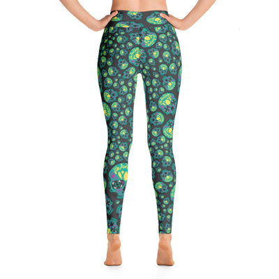WAYskulls Green & Grey Leggings
