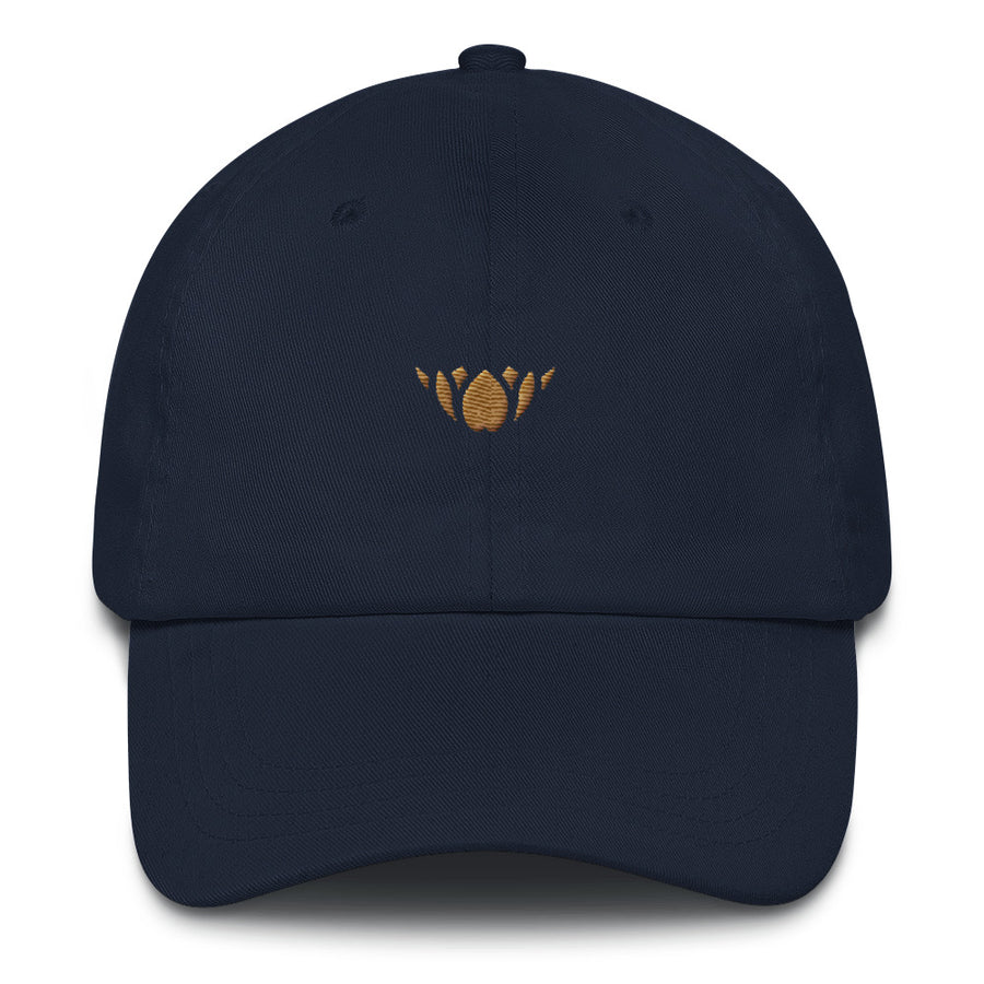 Navy & Gold Lotus-Club hat