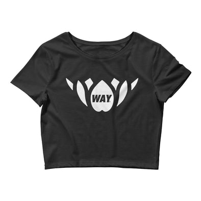 WAY lotus WHT-Women's Crop Tee