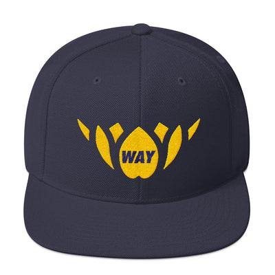 Navy & Yellow/Gold-Snapback Hat