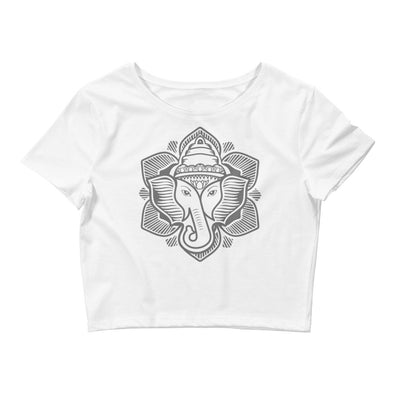 Classic Elephant Lotus Women's Crop Tee