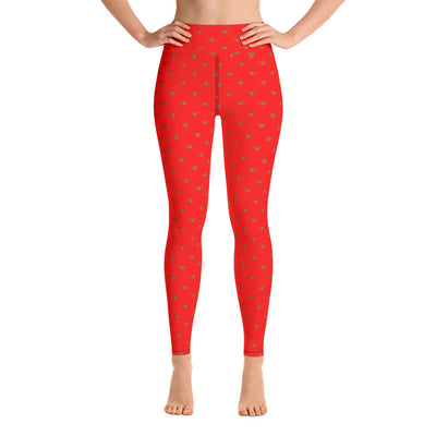 Red & Gold Team Leggings