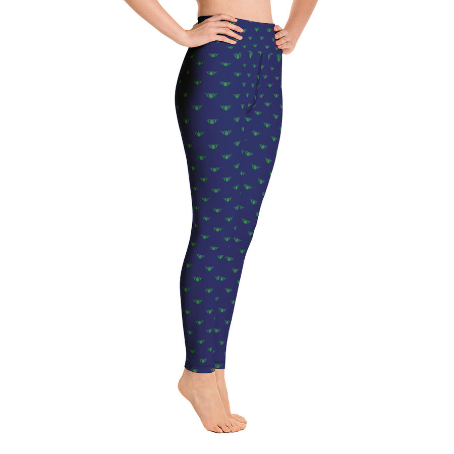 Navy & Green Team Leggings