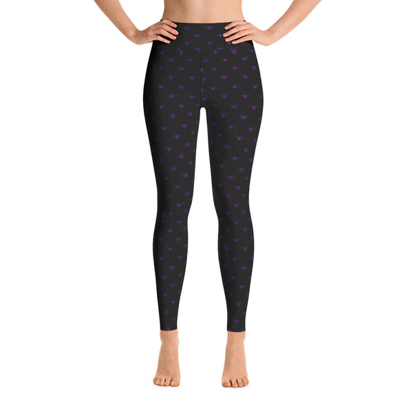 Black + Purple Team Leggings