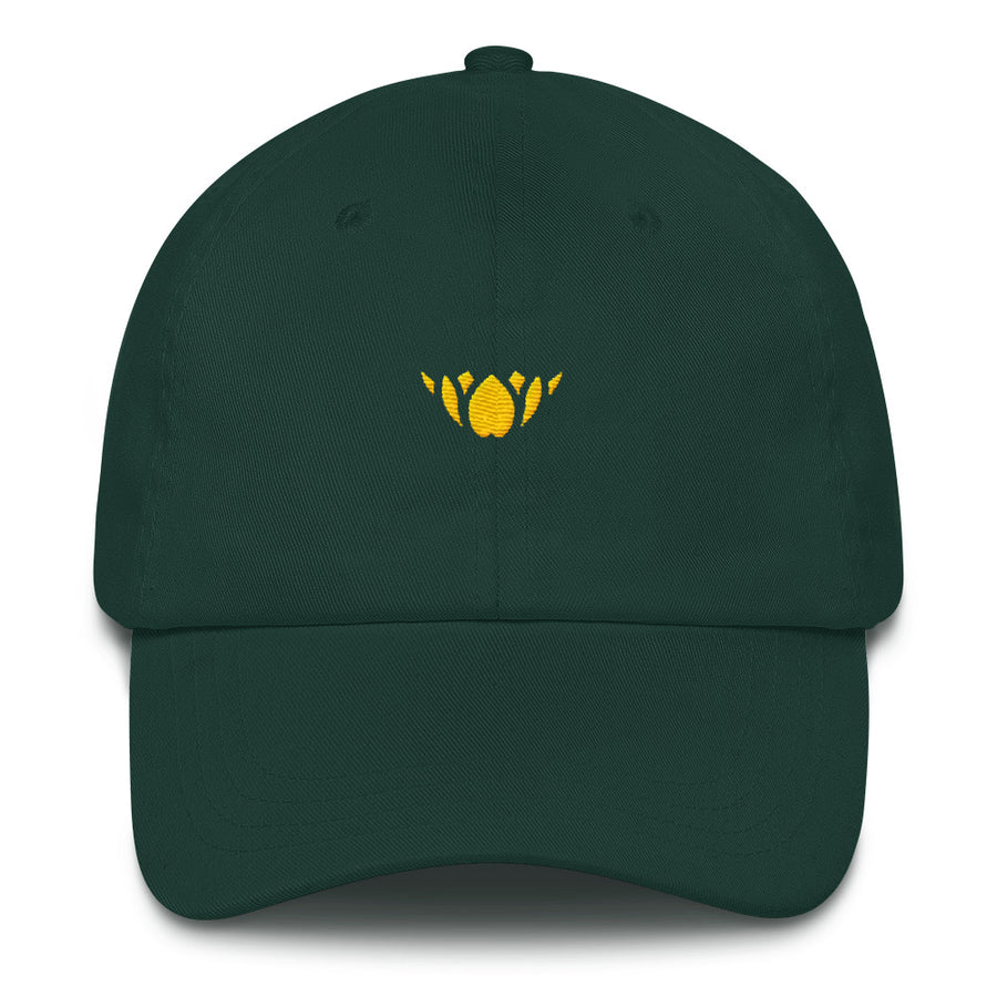 Green & Gold Lotus-Club hat
