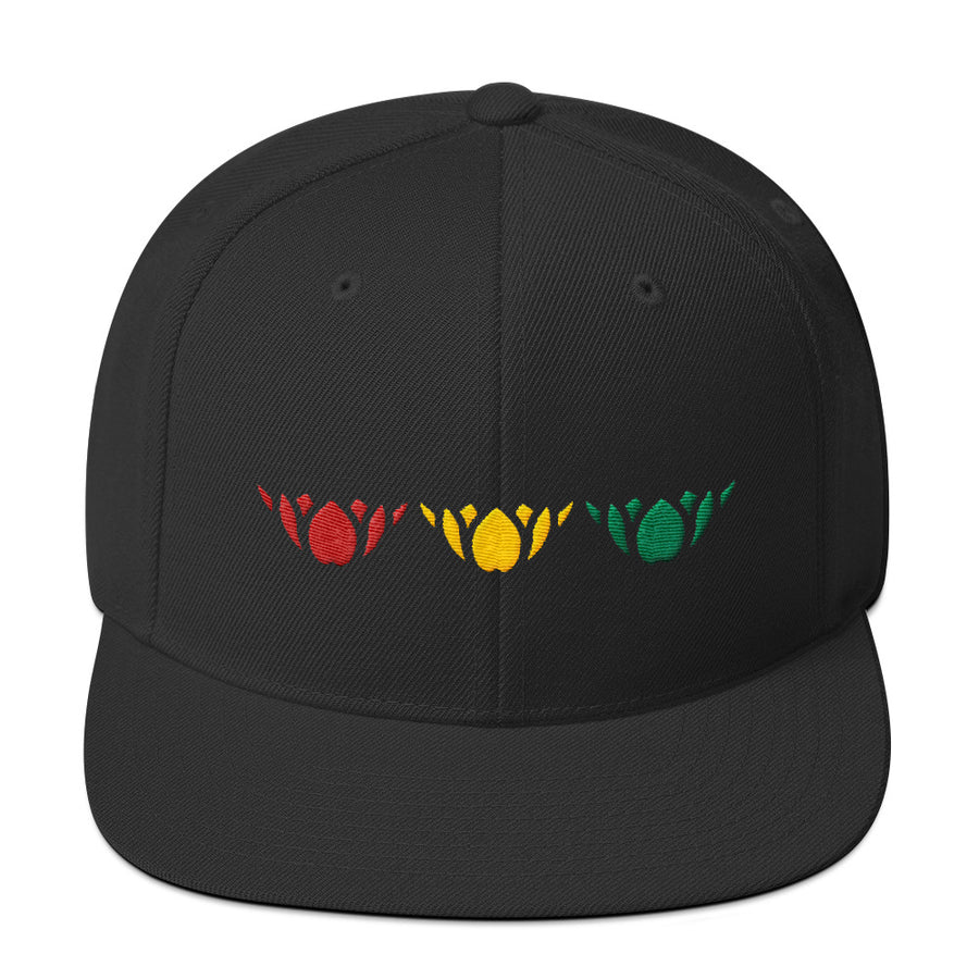Red Gold & Green-Snapback Hat