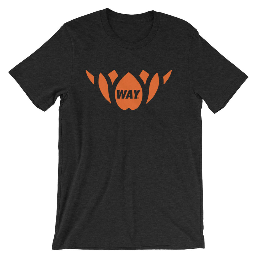 Black + Orange Lotus Team Tee