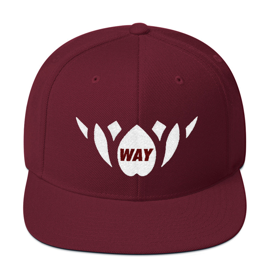 Crimson & White-Snapback Hat
