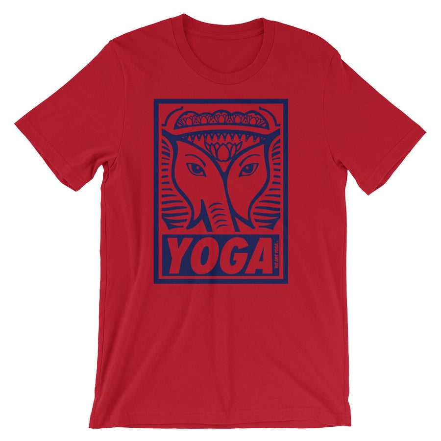 Red + Navy Stamp Team Tee