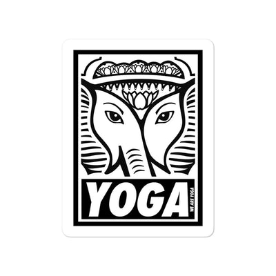 Yoga Stamp Sticker-Black