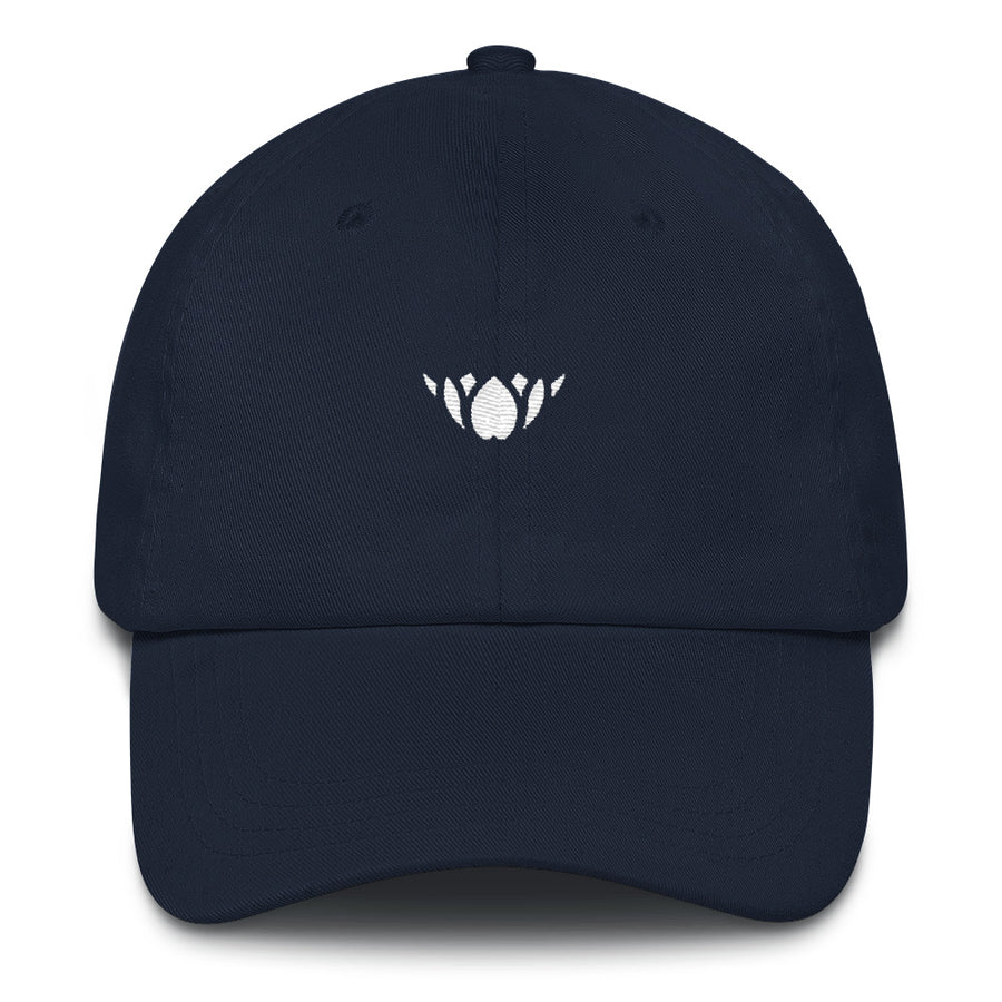 Navy & White Lotus-Club hat