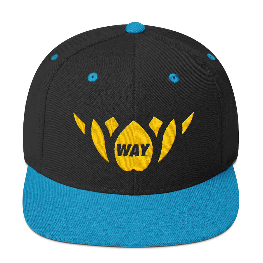 Teal & Gold- Snapback Hat