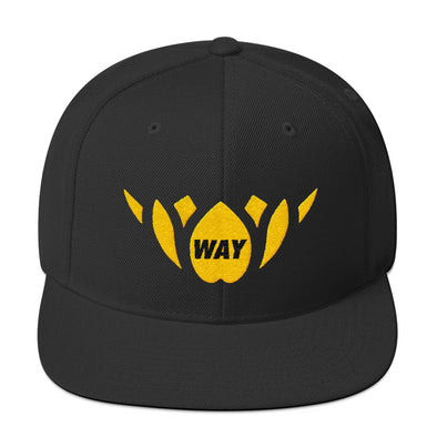 Black & Yellow/Gold-Snapback Hat