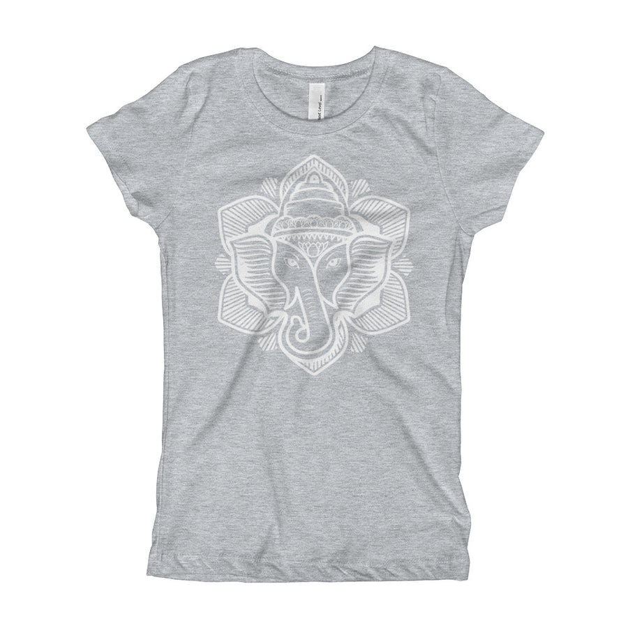 Classic Elephant Lotus Girl's Tee Shirt