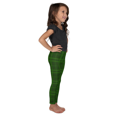 Holiday Plaid Green Toddler + Little Kids Leggings