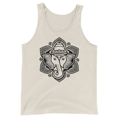 Classic Elephant Lotus Tri-Blend Tank Top