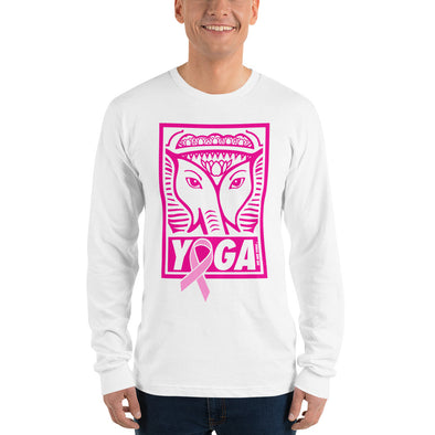 Yoga 4 the Cure Stamp Unisex Longsleeve