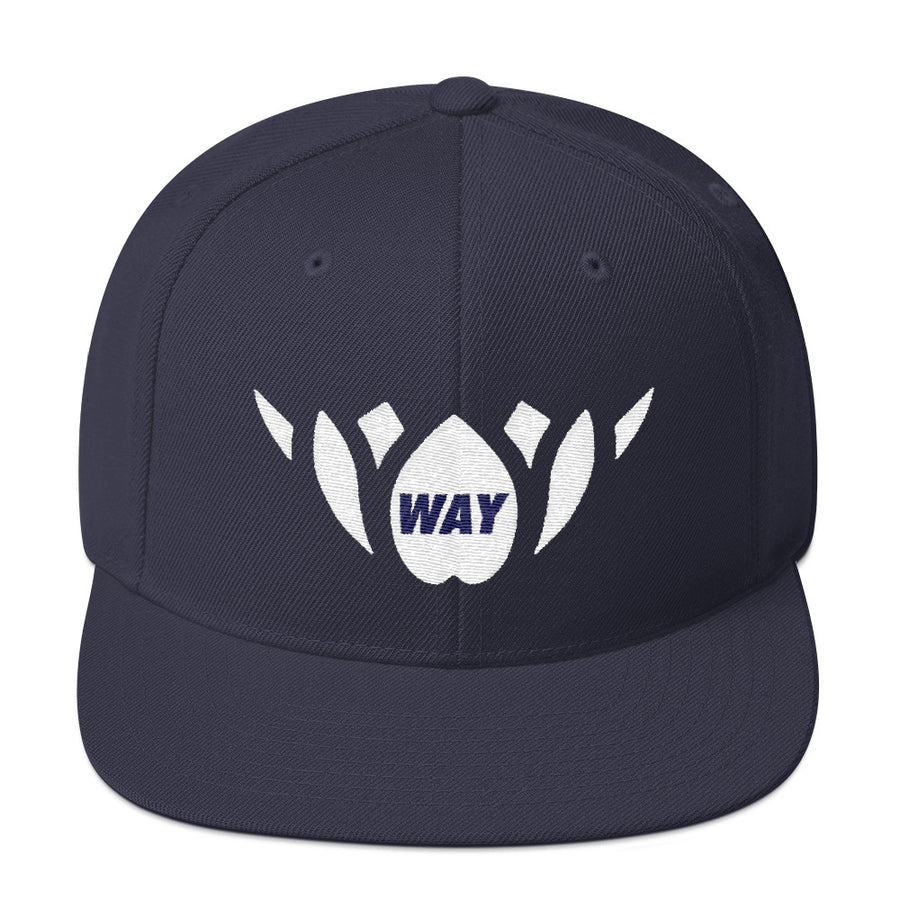 Navy & White-Snapback Hat