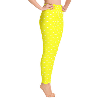 Yellow & White Team Leggings