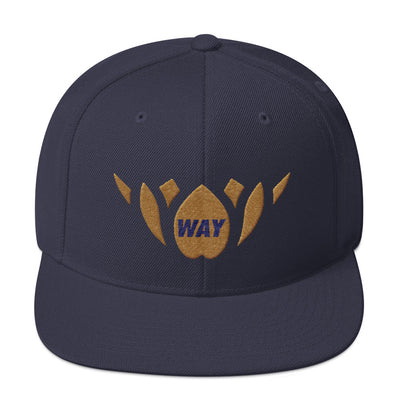 Navy & Gold-Snapback Hat