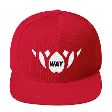 Red & White-Snapback Hat