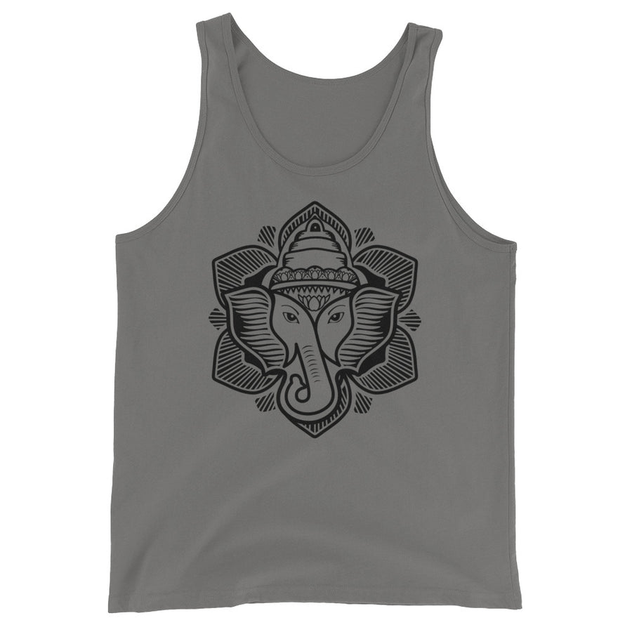 Classic Elephant Lotus Cotton Tank Top