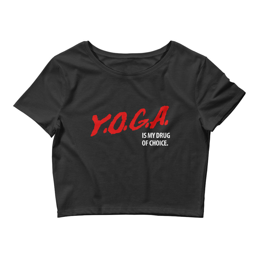 YOGA DRUG-Women's Crop Tee