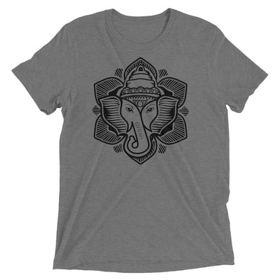 Classic Elephant Lotus Tri-blend Tee Shirt