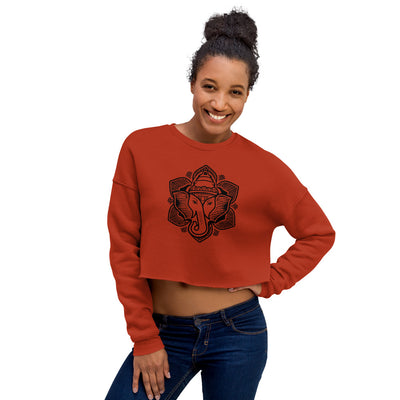 Elephant Lotus Sweatshirt Crop