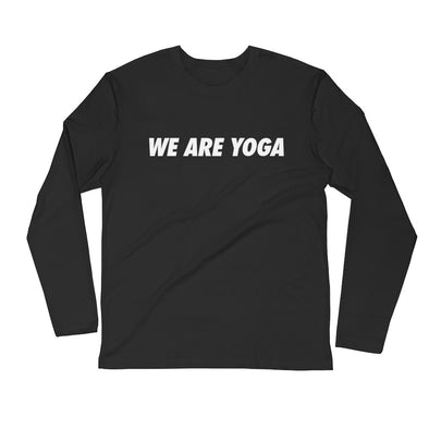 WE ARE YOGA-Fitted Longsleeve