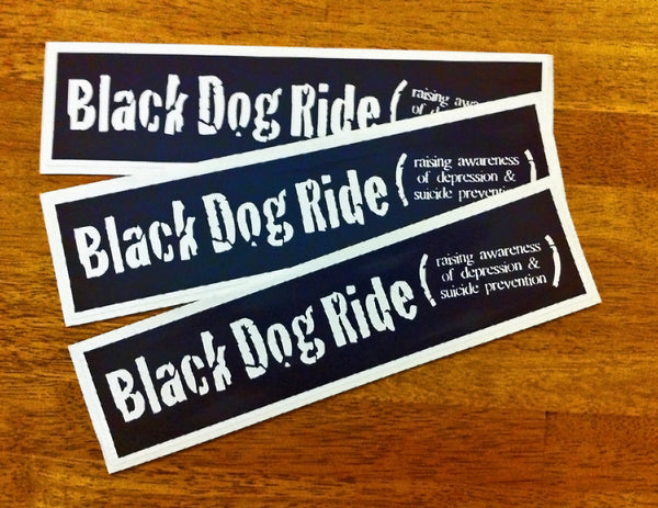 Black Dog Ride 3 Sticker Pack