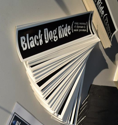 Black Dog Ride Stickers