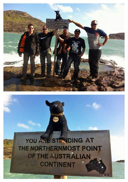 Black Dog Ride mascot Winston travels to the Top End with Black Dog Riders