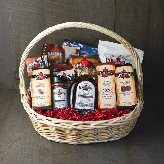 Jakeman's gift basket 6 of assorted maple products