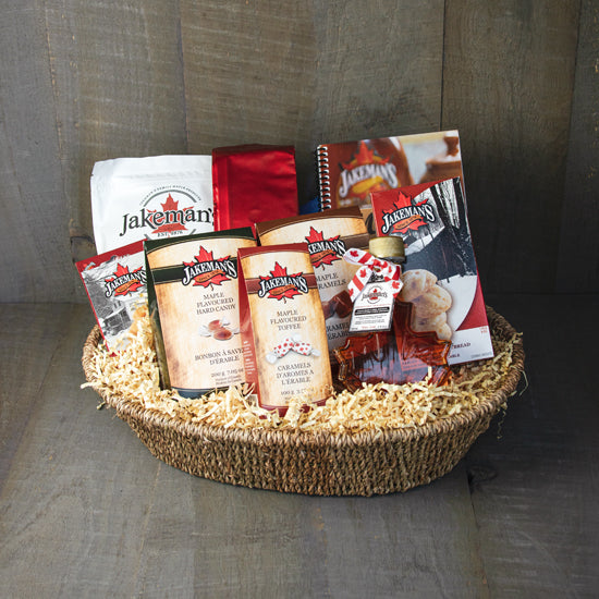 Jakeman's gift basket 6a of assorted maple products