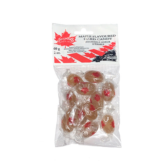 Jakeman's Maple Flavoured Hard Candy 60g Bag