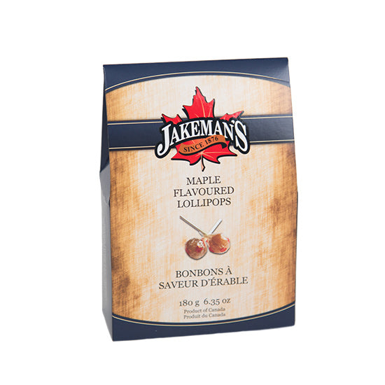 Jakeman's Maple Lollipop Candy Box 180 grams