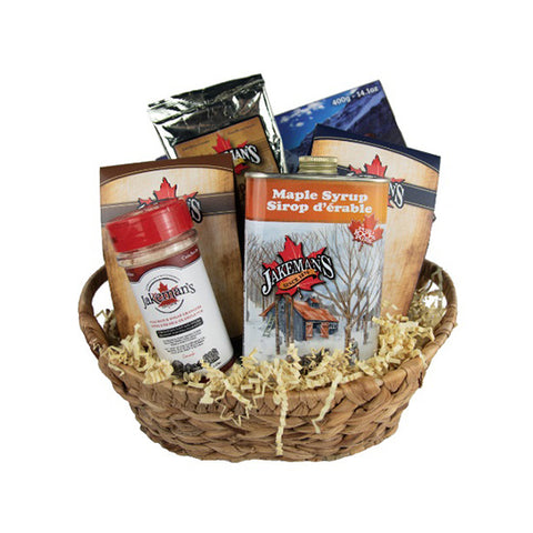 Medium gift basket of assorted Jakeman's maple products
