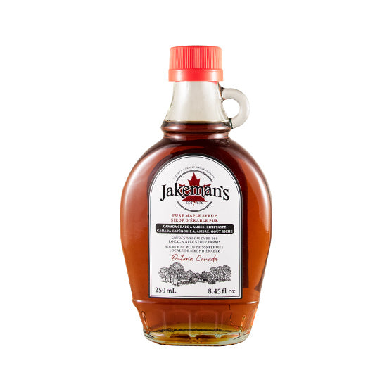 Jakeman's Pure Maple Syrup Kent Glass 250ml
