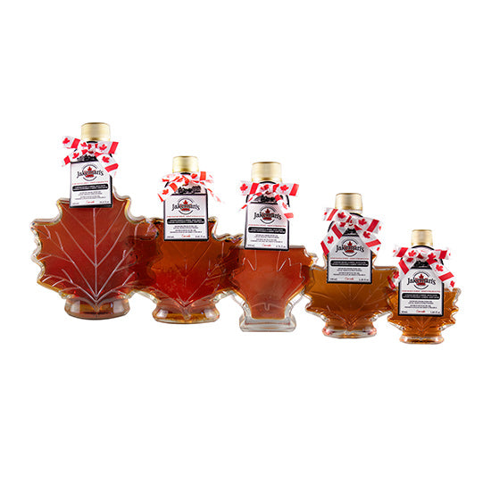Jakeman's 100% Pure Maple Syrup Autumn Leaf Bottle Collection
