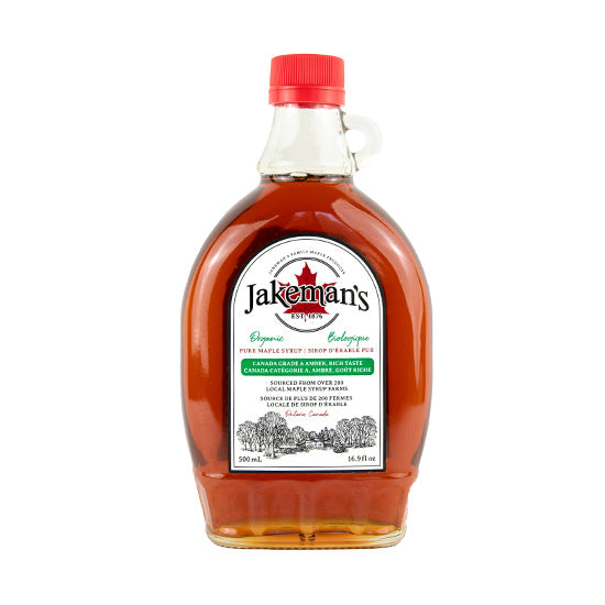 Jakeman's Organic Maple Syrup 500ml bottle