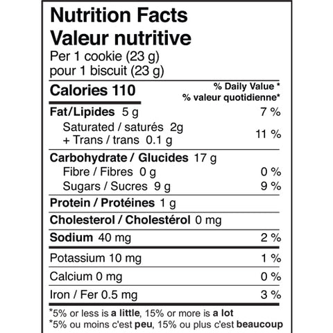 Jakeman's Maple Cream Cookies Nutrition Facts