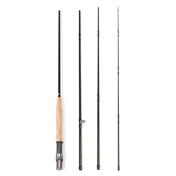 Blusea Fishing Rod 2.7M 4 Sections Detachable Fishing Pole Super Lightweight Carbon Fishing Rod Fishing Tackle