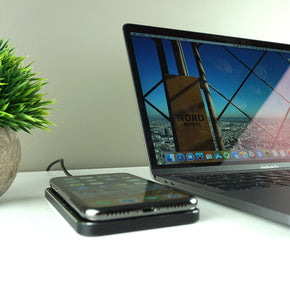 GRAVITY TOUCH Leather : Premium Wireless Charging Base