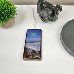 Clearance GRAVITY TOUCH Bamboo : Premium Wireless Charging Base