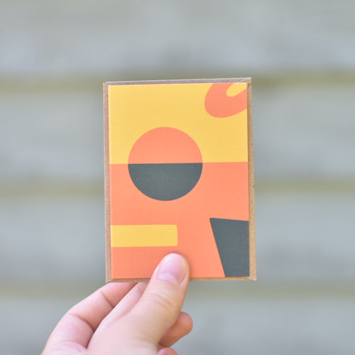 Tiny Abstract Geometric Card