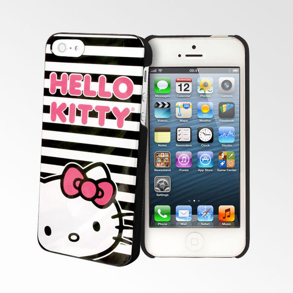 Hello Kitty Black Stripes iPhone 5S/5 Cases