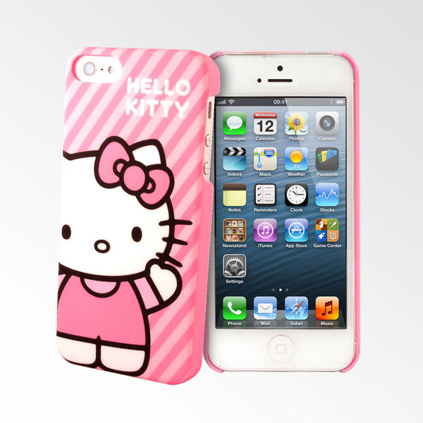 Hello Kitty Pink Stripes iPhone 5S/5 Cases