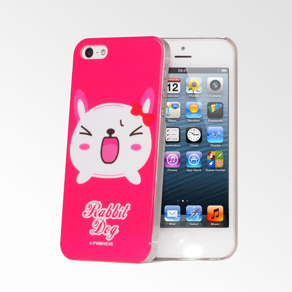Cute Pets Hot Pink Rabbit Dog iPhone 5S/5 Case